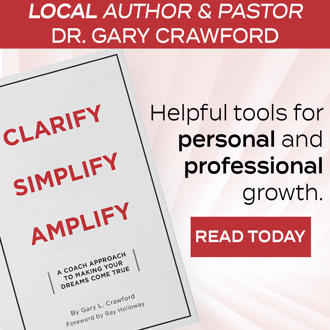 Dr. Gary Crawford New Book Ad